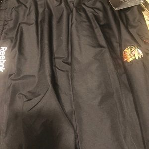 Official Chicago Black Hawks warm up pants; new